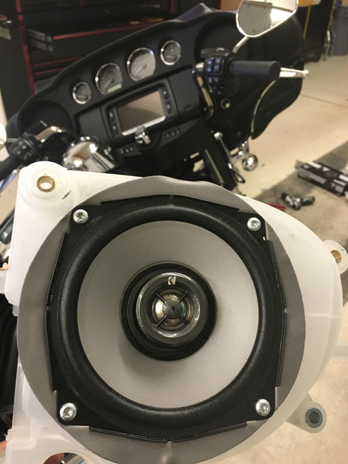 Custom motorcycle stereo